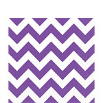 Purple Chevron Napkins - 33cm