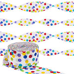 Rainbow Polka Dot Crepe Streamer - 24m