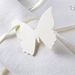 Elegant Butterfly - Ivory Luggage Tags