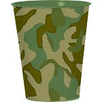 Camouflage Plastic Favour Cup - 455ml