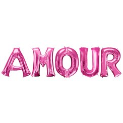 "'AMOUR' Pink Balloon Kit - 34"" Foil"