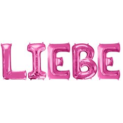 "'LIEBE' Pink Balloon Kit - 34"" Foil"