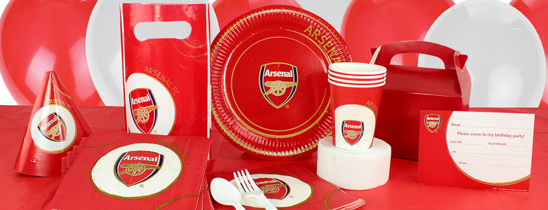 Arsenal Football Club Partyware Woodies Party