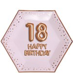 18th Glitz & Glamour Birthday Paper Plates - 27cm