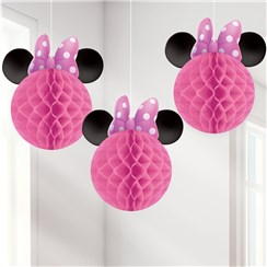 Minnie Mouse Honeycomb Hanging Decorations