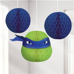 Ninja Turtles Honeycomb Hanging Decorations