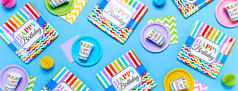 Birthday Bright Party Supplies