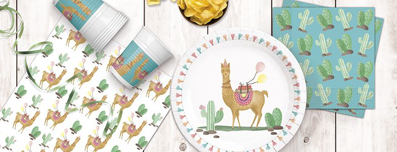 Llama Party Tableware