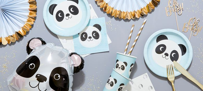 Miko The Panda Baby Shower Supplies Woodies Party