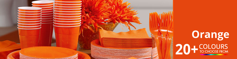 Orange Party Supplies Party Delights