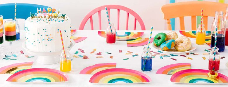 Rainbow Birthday Party Supplies