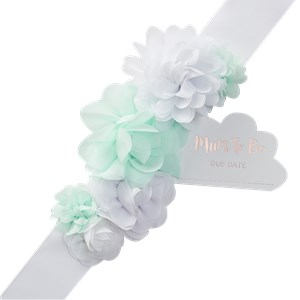Hello World Mother To Be Fabric Sash - 2m
