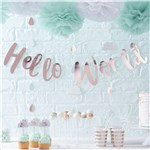 Hello World Rose Gold Letter Bunting - 2m