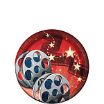 Hollywood Lights Dessert Plates - 18cm Paper Party Plates