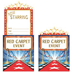 Hollywood Lights Party Invitations - 12cm