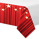 Hollywood Lights PlasticTablecover - 1.4m x 2.6m