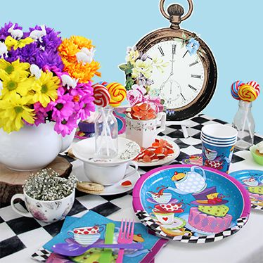 Alice in wonderland party supplies party delights - Mad hatter tea party decoration ideas ...