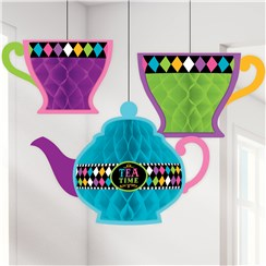 Mad Tea Party Honeycomb Hanging Decorations