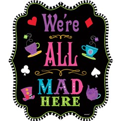 Mad Tea Party Sign Cutout