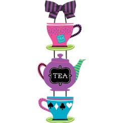 Mad Tea Party Teapot Sign