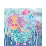 Magical Mermaid Paper Napkins - 33cm