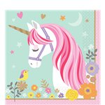 Magical Unicorn Lunch Napkins - 33cm