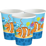 Ocean Buddies Cups - 255ml Paper Party Cups