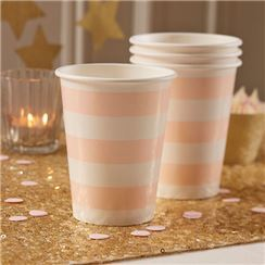 Pastel Perfection Cups - 255ml Paper Party Cups