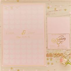 Pastel Perfection Wedding Guest Book Poster - A3