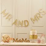 Pastel Perfection 'Mr & Mrs' Wedding Bunting - 2m