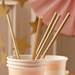 Pastel Perfection Gold Paper Straws