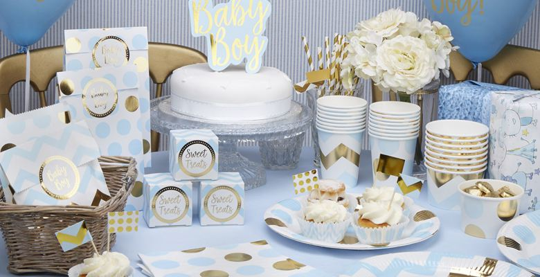 Pattern Works Blue Baby Shower Supplies