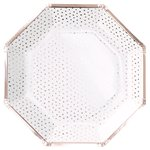 Pick & Mix Rose Gold Spotty Paper Plates - 25cm