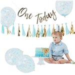 Pick & Mix Pastel Blue 1st Birthday Cake Smash Kit