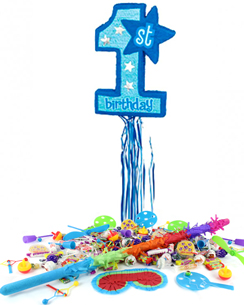 Age One Blue Pull Piñata Kit