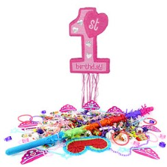 Age One Pink Pull Piñata Kit