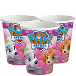 Pink Paw Patrol Cups - 266ml Paper Party Cups