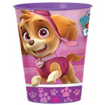Pink Paw Patrol Plastic Favour Cup - 455ml