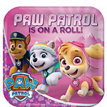Pink Paw Patrol Plates - 23cm Paper Party Plates