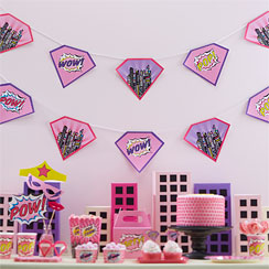 Pink Pop Art Party Bunting - 4m