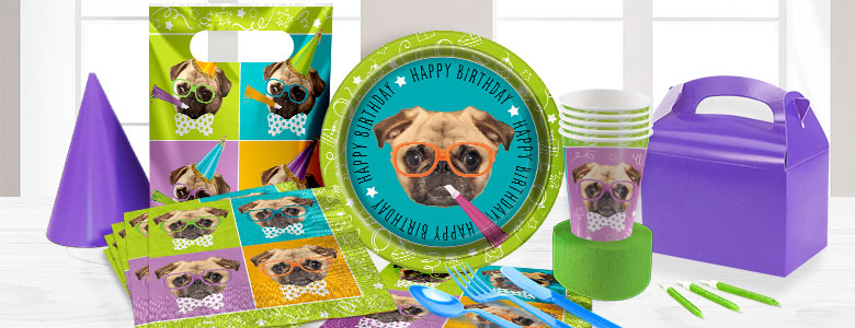 pug party supplies
