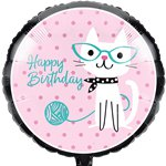 Purr-fect Party Metallic Foil Balloon - 18""