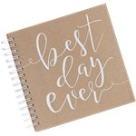 Rustic Country Envelope Guestbook - 21cm