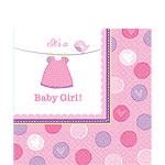 Girl's Shower With Love Luncheon Napkins - 2ply Paper