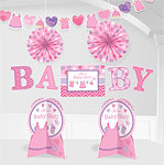Girl's Shower With Love Room Decorating Kit