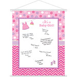 Girl's Shower With Love Sign In Sheet