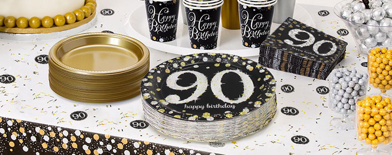 Sparkling Celebration 90th Party Supplies