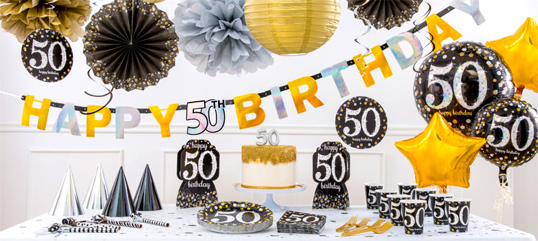 Sparkling celebration 50th birthday party supplies party for 50th birthday decoration packs