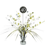Sparkling Celebration Age 40 Table Centrepiece - 46cm