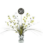 Sparkling Celebration Age 50 Table Centrepiece - 46cm